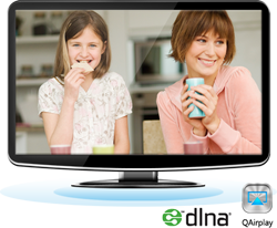 Supports DLNA and AirPlay for media streaming
