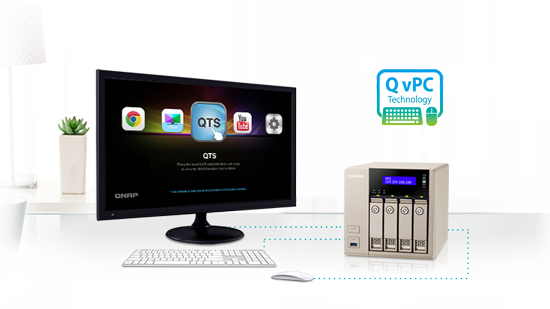 Use your TVS-463 as a PC with the exclusive QvPC Technology