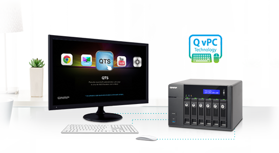 Use your TVS-671 as a PC with exclusive QvPC Technology