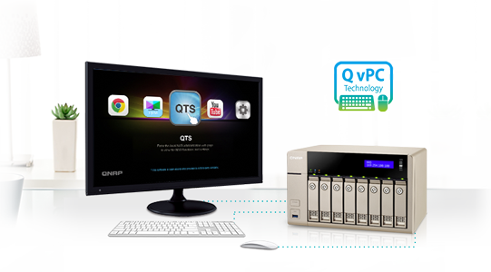 Use your TVS-863 as a PC with the exclusive QvPC Technology