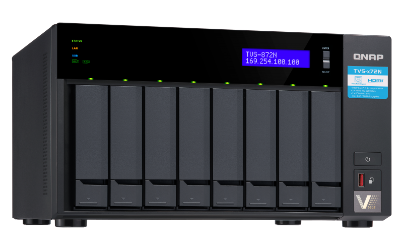 QNAP TVS-872N Left-Elevated
